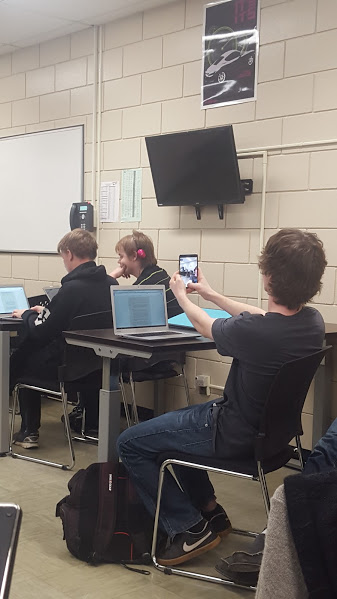 Students being distracted by technology